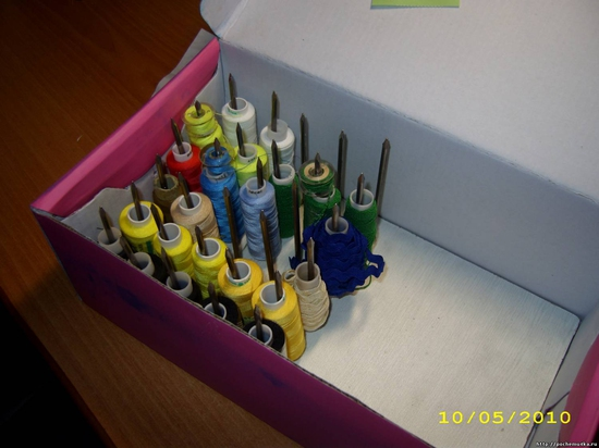 Хранение ниток швейных