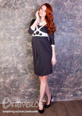 Платье с декоративной кокеткой - МамаМаркет.