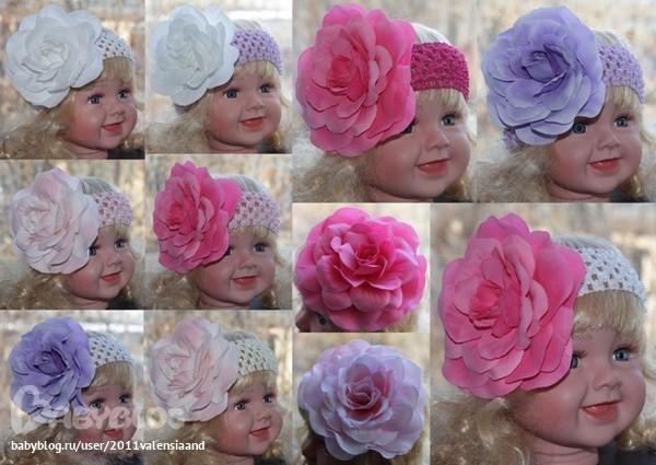 фото цветы на голову: