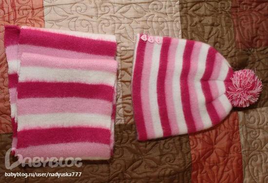 4. вязаная с паетками 150р. новая!  3. комплект шапка+шарфик очень...