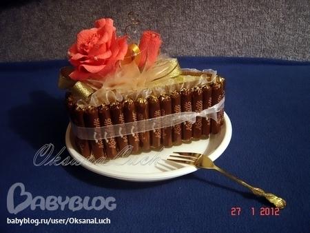 Торт шоколадный с безе и орехами фото 10