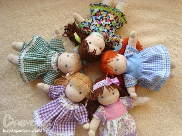 Текстильные маленькие куклы своими руками 56