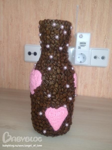 Ваза из кофейных зерен фото