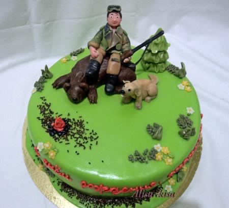 Фото тортиков с темой охота и рыбалка