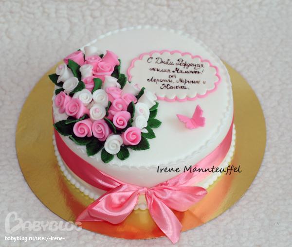 Фото тортов на юбилей маме