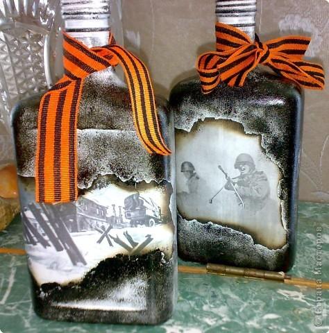 Как украсить бутылку своими руками декупаж