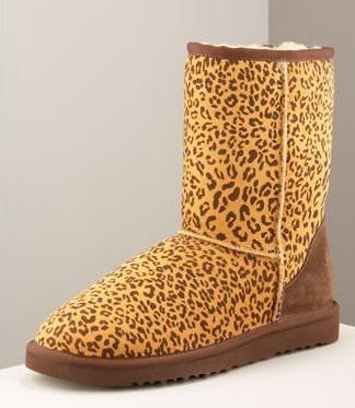 Угги Леопардовые