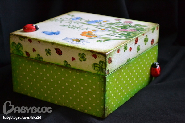Декупаж картонных коробок своими руками