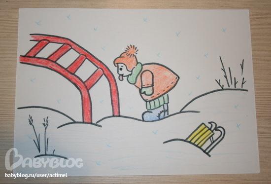 одной лычкой безопасность на улице легкие рисунки деьей там, где это