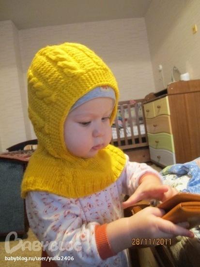 Как связать спицами детскую шапочку шлемом