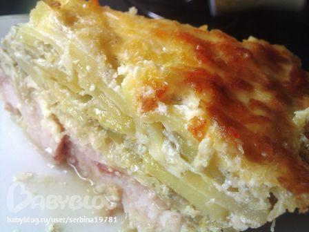 Филе рыбы под шубой с картошкой в духовке рецепт