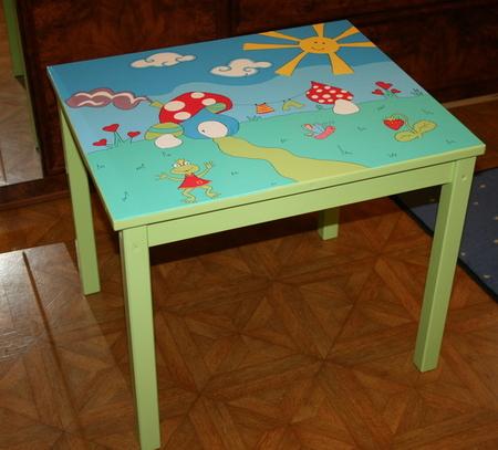Как раскрасить детский столик своими руками 50
