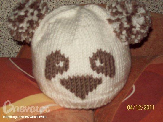 Свяжу шапочку-панду на заказ по вашим размерам.  Для самых маленьких...