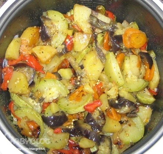 в мультиварке овощное рагу