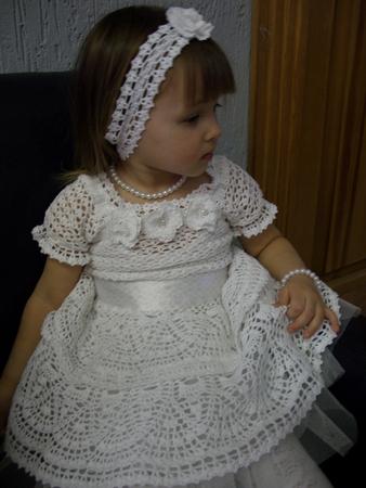 Страна мам вязание платьев с круглой кокеткой