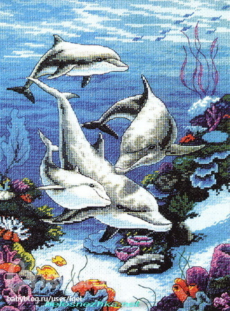 вышивка подводный мир схема