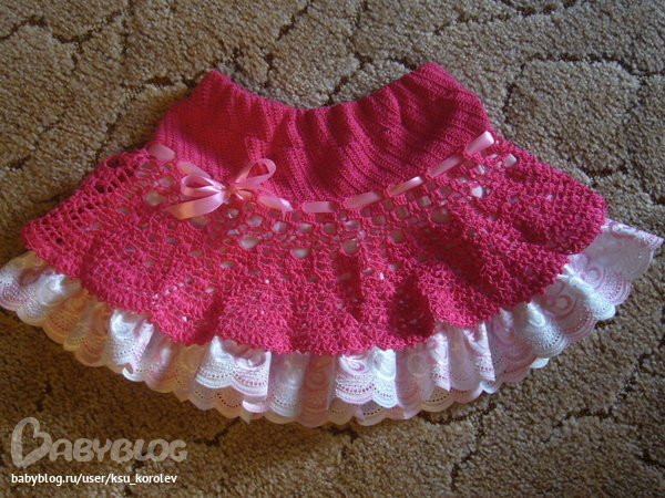 Вязание для маленьких девочек юбочки