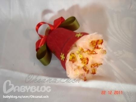 Новогодний колокольчик из конфет мастер класс - HubertHaas