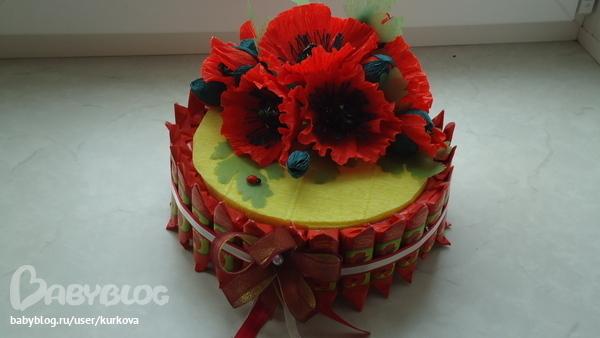 Торт из гофрированной бумаги цена