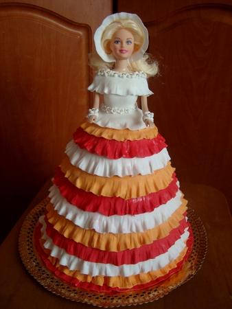 Малышке на годик и торт кукла