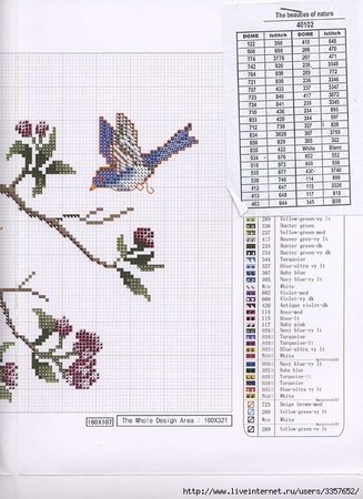 Ирисы схема вышивки подушка 83