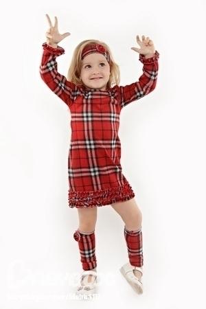 Платье в клетку для девочек своими руками
