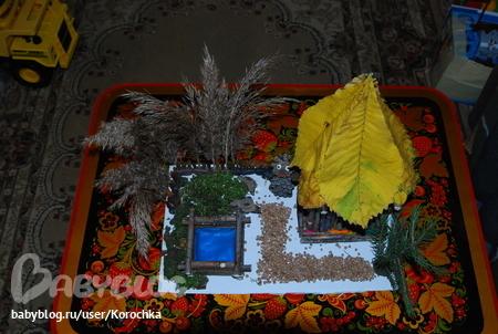 Осенние поделки в детский сад из мха