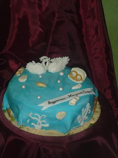 Торт на жемчужную свадьбу не из мастики