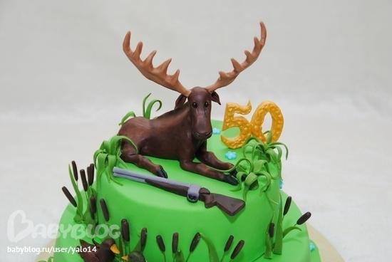 Фото-торт про охоту