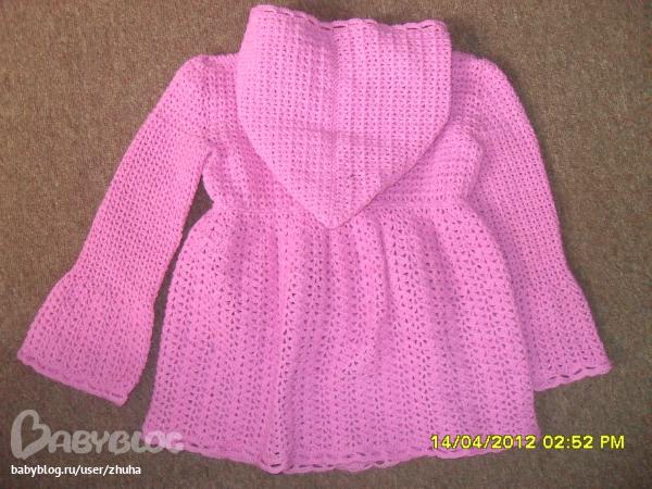 Мастер класс вязания кофточки для девочки спицами