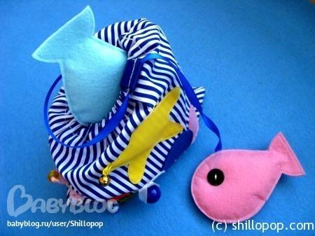 Как из ткани сшить рыбку 18