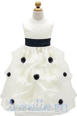 платье для девочки на выпускной в детском саду.