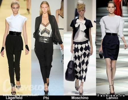 Одежда В Черно-Белой Гамме