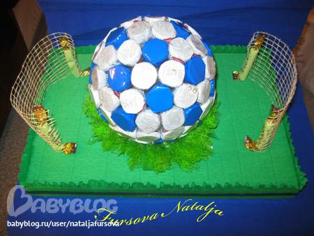Мяч своими руками из конфет