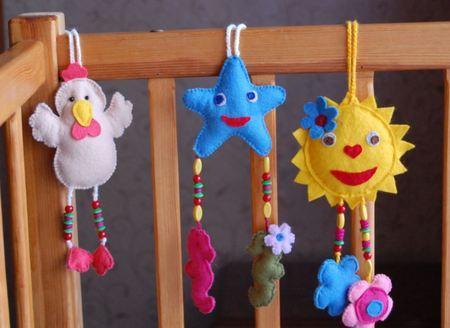 игрушки из фетра для малышей.
