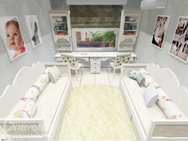 комната 12 м для двух девочек