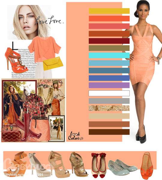 Какой цвет сочетается с персиковым цветом в интерьере