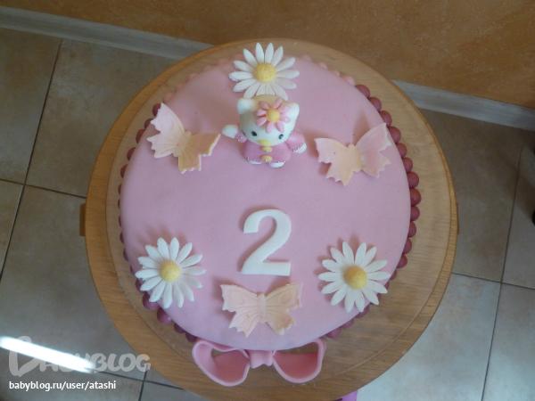 Торт на 2 года девочке