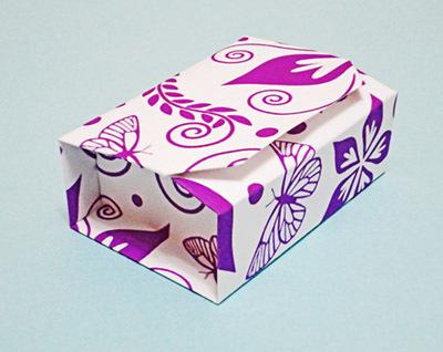 Необычная оригами коробочка: