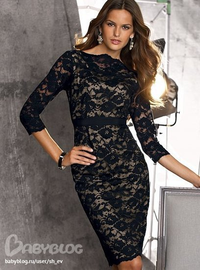 Вновь актуальное кружево Черное кружевное платье - Покупки в.