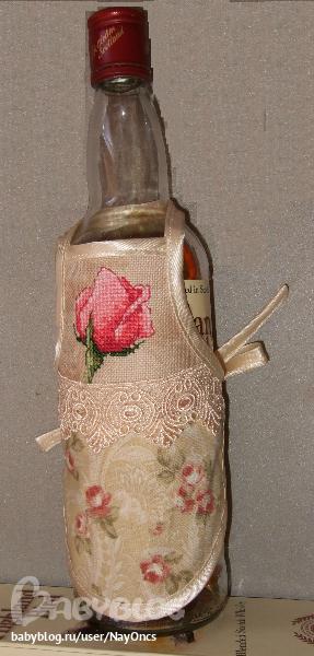 Фартук на бутылку своими руками 72