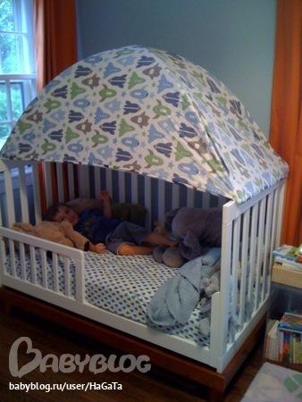 Как сделать полог над детской кроватью своими руками
