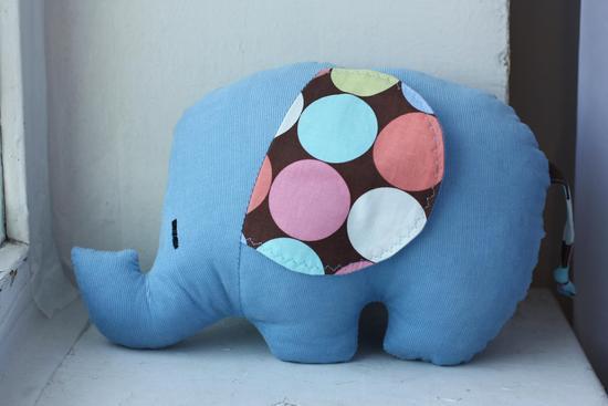 Схема подушки с слоном