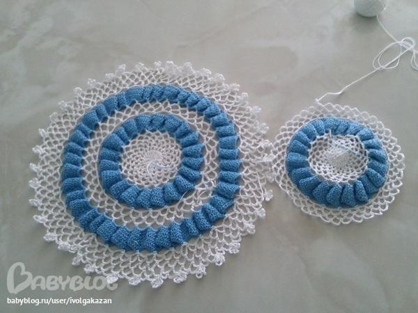 Вязание шапочки крючком для девочки