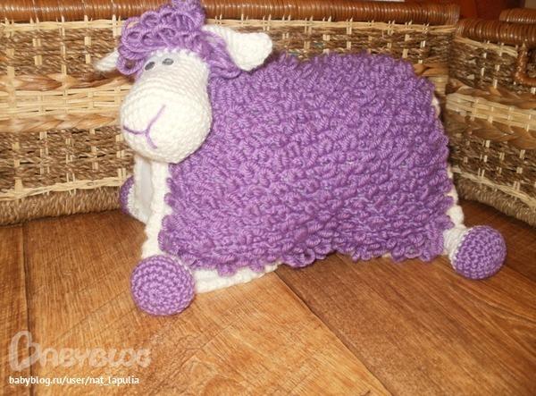 схем вязания подушек..