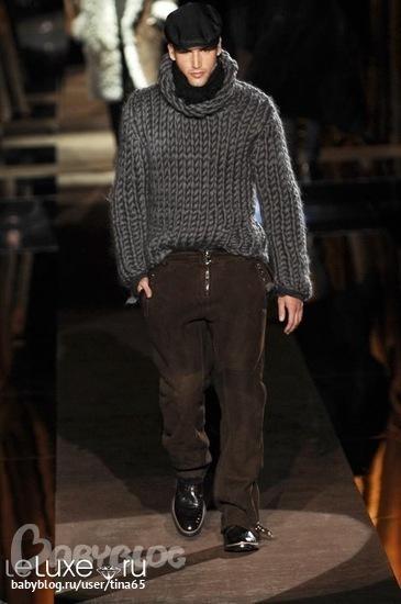Свитер мужской вязаный крупной вязки новый - Мужская одежда.