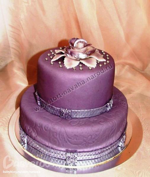 Торт свадебный на серебряную свадьбу