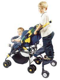 универсальная подножка для второго ребенка с сидением.