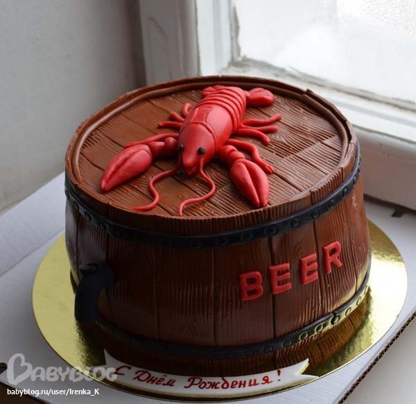 Торт пиво с раками фото