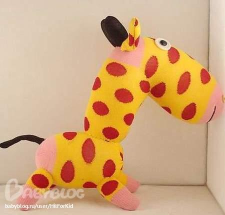 Жираф из носка